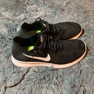 Nike Men's Free R/N FLYKNIT Black Running Shoes